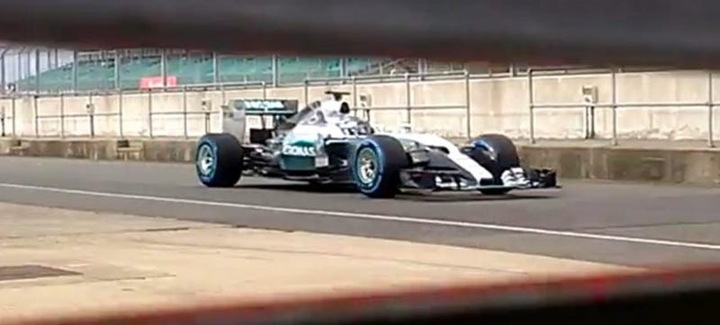 Illustration for article titled Mercedes Shows Off 'Spy' Videos Of New F1 Car That They Shot Themselves