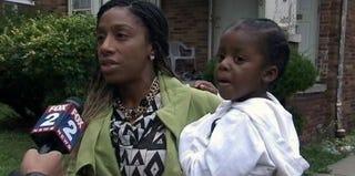 Charity Grace and her son, Joshua (Fox 2 Detroit screenshot)