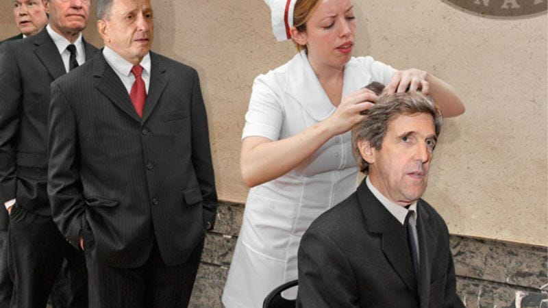 The Senate nurse sends Sen. John Kerry (D-MA) home for the day.