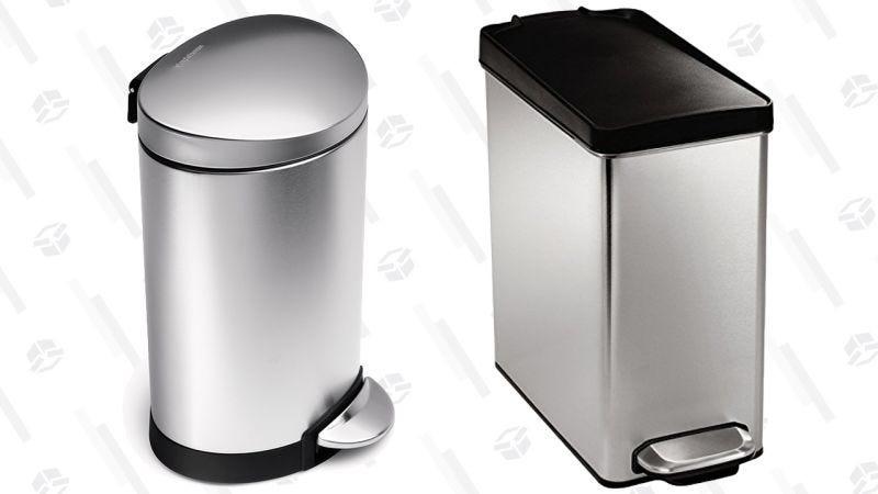 Cubo de basura simplehuman 6L para el baño   $15   AmazonCubo de basura simplehuman de 10L para el baño   $18   AmazonGráfico: Shep McAllister