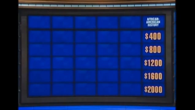 Last Night on Jeopardy No One Wanted to Answer Qs About ...