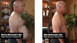 Illustration for article titled Man loses 37 pounds by eating exclusively at McDonald's for 90 days