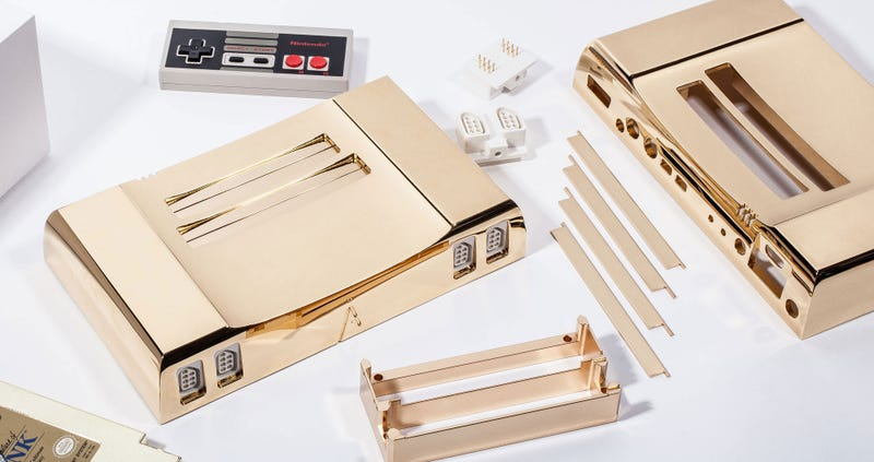 Illustration for article titled $5000 Console Is Covered In 24k Gold