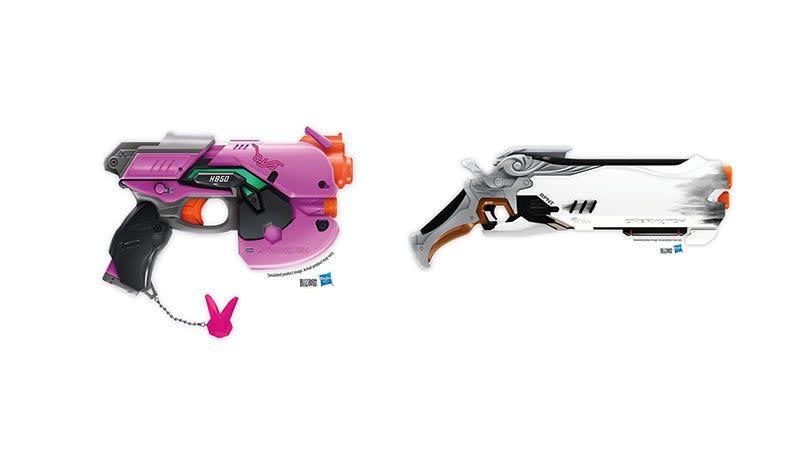 Illustration for article titled Estas réplicas de armas de Overwatch hechas por Nerf van directas a nuestra lista de deseos