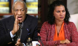 Bill Cosby in 2007;Lise-Lotte Lublin, an alleged victim of Cosby's, during a news conference Feb. 12, 2015, in Los AngelesAlex Wong/Getty Images; Frederick M. Brown/Getty Images