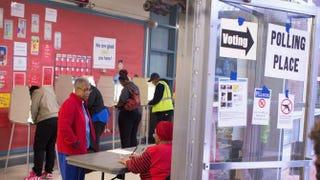 Voters in Ferguson, Mo., on Nov. 4, 2014Scott Olson/Getty Images