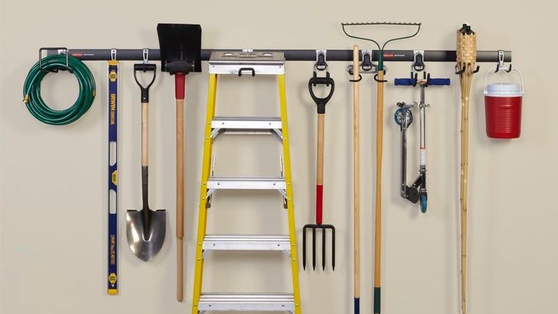 Rubbermaid FastTrack Garage Storage System All-in-One Rail & Hook Kit, 5-Piece, $25