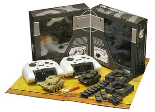 Illustration for article titled Destroy Your G.I. Joes With Remote-Controlled VS Tanks