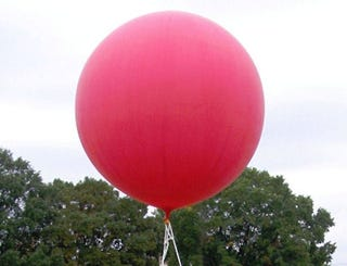 Illustration for article titled DARPA's Giant Red Balloons Officially at Large