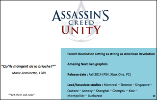 Illustration for article titled These Are The 10 Studios Making Assassin's Creed Unity