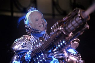 Illustration for article titled McCain Proposes $300 Million Prize to Develop Next-Gen Battery for Cars, Cybernetic Cryo-Suits