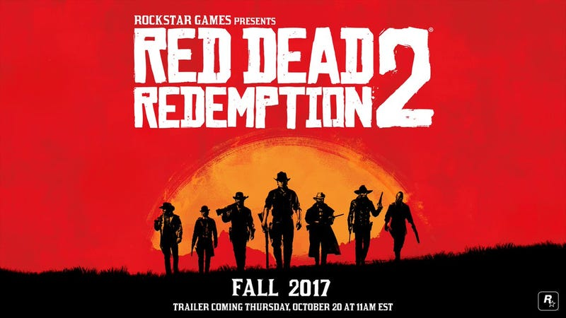 Illustration for article titled Red Dead Redemption 2 Coming Fall 2017
