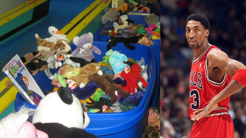 Illustration for article titled Most 1990s Sale Ever: Scottie Pippen Some Lady Auctioning Off Beanie Baby Bins [UPDATE]