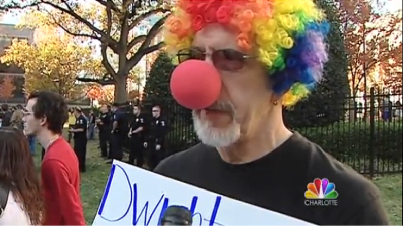 Illustration for article titled Rally of White Power Clowns Drowned Out By Bunch of Awesome Actual Clowns