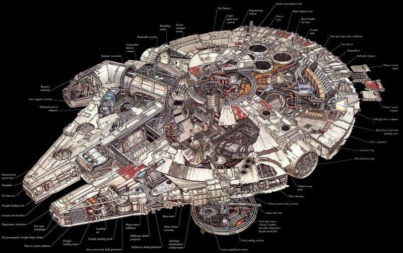 Illustration for article titled The amazingStar Warsvehicles and location cutaways by Hans Jenssen