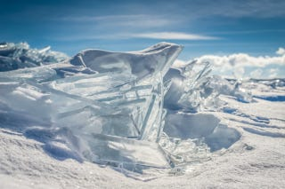Illustration for article titled Lake Superior's ice looks like Superman's Fortress of Solitude