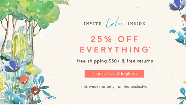 Anthropologie Is Having A Sale And Everything Is 25% Off