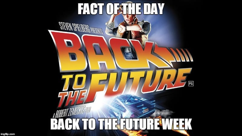 Illustration for article titled Fact Of The Day - Back To The Future Day Edition.