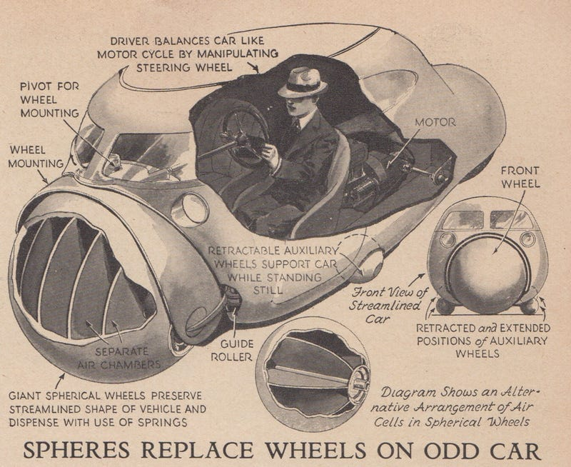 The 1935 car of the future (Popular Science/Novak Archive)