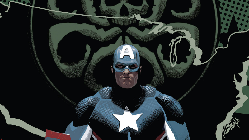Image: Marvel Comics. Captain America: Steve Rogers #16 Cover Art by Danial Acuna.