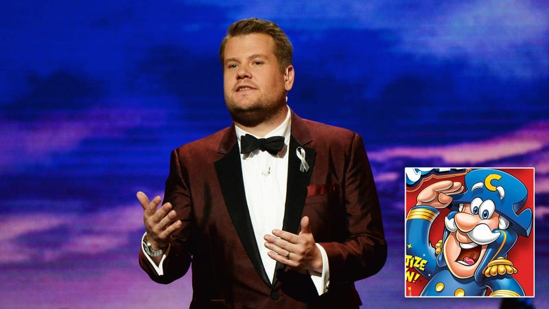Illustration for article titled PR Nightmare: Cap'n Crunch Went On 'The Late Late Show' And Made A Drunken Pass At Zendaya And Then Vomited All Over James Corden's Lap