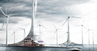 Illustration for article titled Norway's Turbine City Concept Should Be The Future of Energy and Tourism