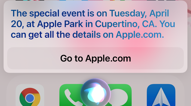 Blaze It, Siri Leaks the Next Apple Event Date is 4/20