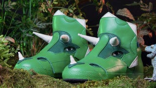 Illustration for article titled Why Didn't These Triceratops Sneakers Exist When We Were Kids?