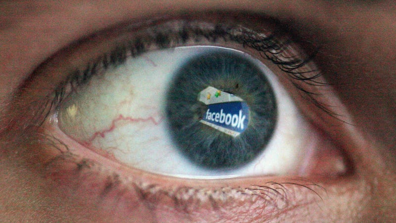 In this photo illustration the Social networking site Facebook is reflected in the eye of a man on March 25, 2009 in London, England.