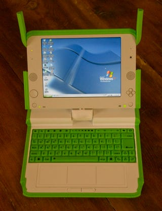 Illustration for article titled First Windows XP OLPC Pilot Marks the Transition From the Sugar UI