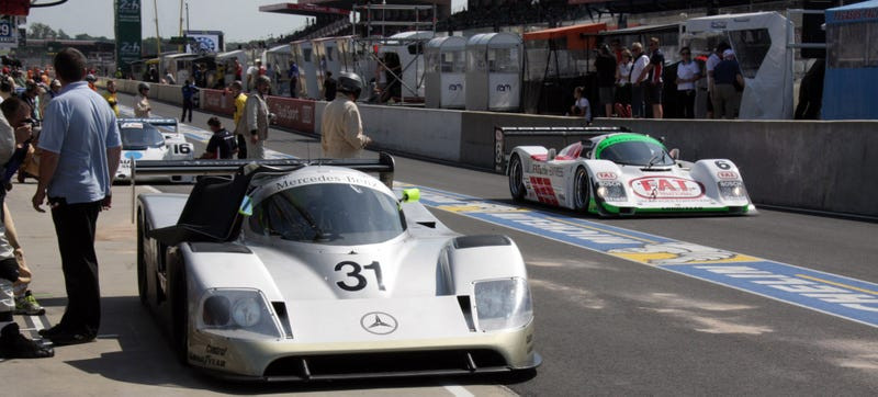 Illustration for article titled Group C Cars Up Close At Le Mans Will Make You Long For Days Past