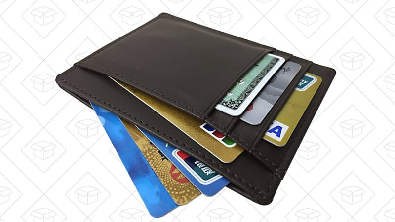 RFID Blocking Leather Slim Wallet, $8 with code AWE4DVQ8