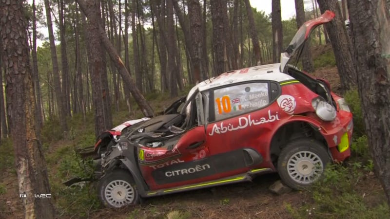 Illustration for article titled World Rally Championship Driver Kris Meeke Fired For Crashing Too Much