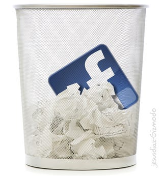 Illustration for article titled Facebook Instant Account Destruction, at Last [Updated]