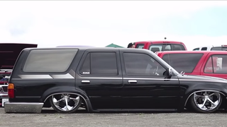Japan's Wildest Low Rider Trucks Don't Even Look Possible