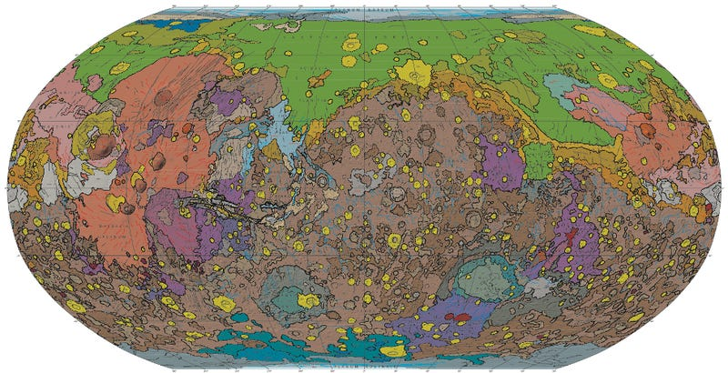 Illustration for article titled These Insanely Detailed Maps Of Mars Are The Most Accurate Yet