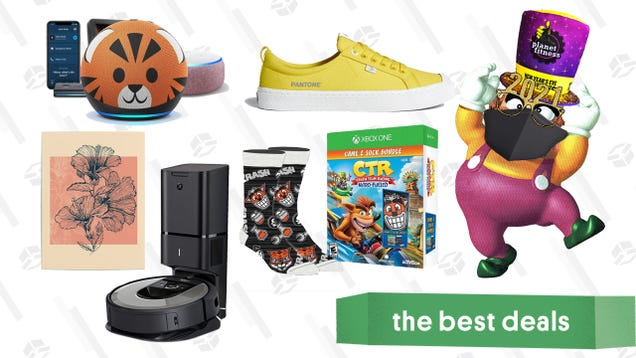 Friday s Best Deals: Amazon Echo Sale, Society6 Posters, Roomba i6+, Crash Team Racing + Socks, TriggerPoint Foam Rollers, Pantone Sneakers, and More