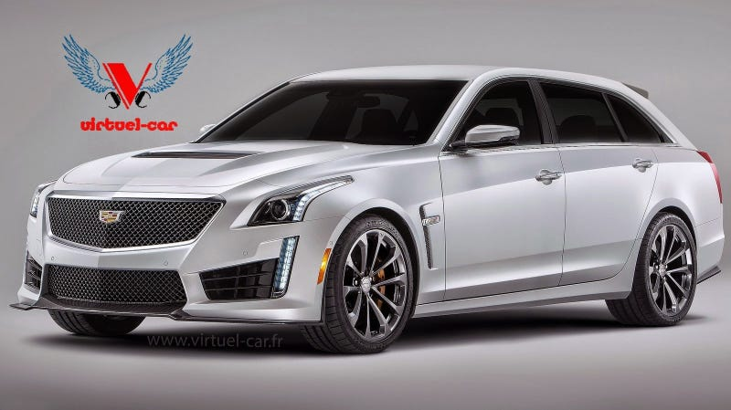 Illustration for article titled It's Too Bad This Cadillac CTS-V Wagon Rendering Isn't Real...
