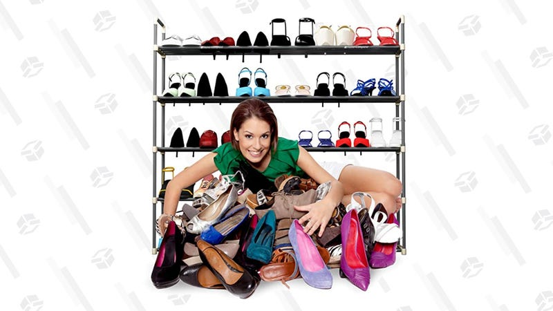 Home-Complete Shoe Rack with 5 Shelves   $24   Amazon