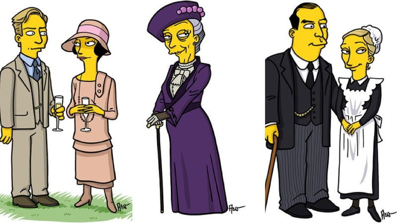 Illustration for article titled The Simpsons Version of Downton Abbey Is Charming and Adorable