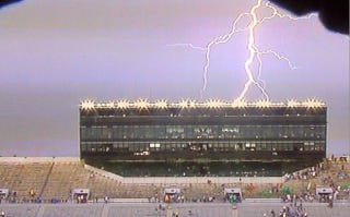 Illustration for article titled Weather Forces Evacuation Of Notre Dame Stadium
