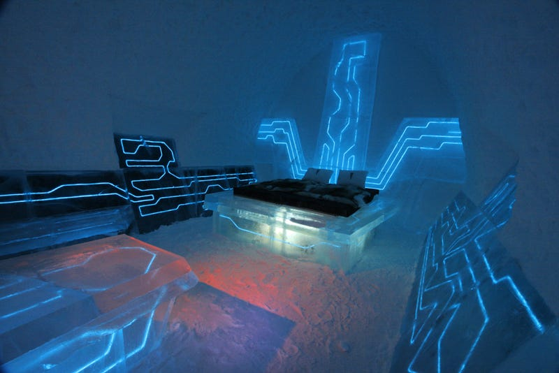 Illustration for article titled I Want To Stay At This Tron Hotel Room Inside An Ice Hotel