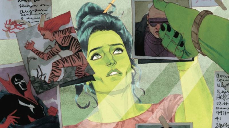 Illustration for article titled Exclusive preview: She-Hulk #5 showcases the heroine's wit and charm