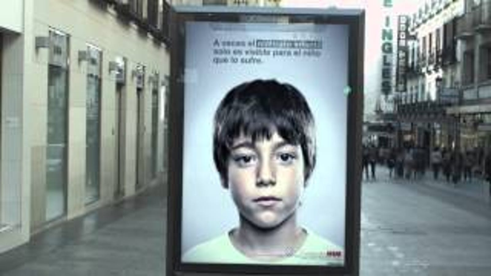 This Ad Has a Secret Anti-Abuse Message That Only Kids Can See