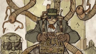 Illustration for article titled Steampunk Spider-Man and his nemesis, Victorian-era Doctor Octopus