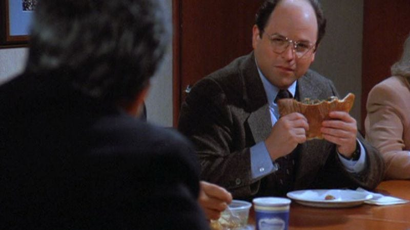 """Illustration for article titled Seinfeld: """"The Wig Master""""/""""The Calzone"""""""