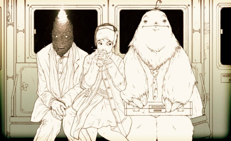 Illustration for article titled Concept Art Writing Prompt: The Monstrous Passengers of the Night Train