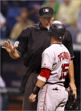 Illustration for article titled Baseball Umpire Doesn't See Anything Wrong Here