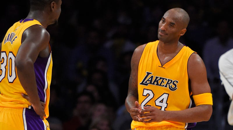 """Illustration for article titled Kobe Bryant Shocked That He's The Voice Of """"Ball Movement Reason"""" For The Lakers"""