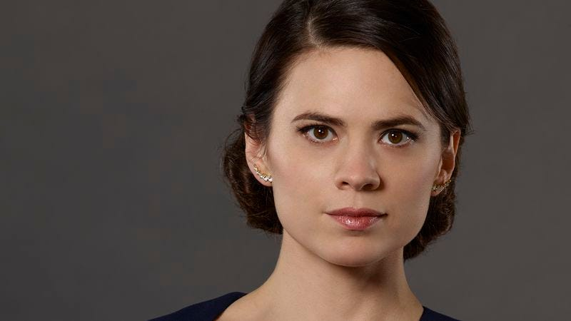 ABC presents an image of Hayley Atwell, as a character who's not Peggy Carter, just to make that wound sting a little more.